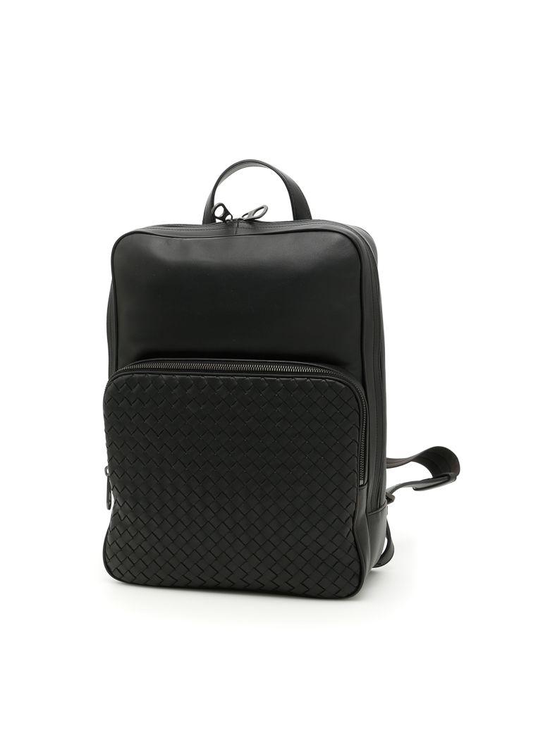 7325287f09 Bottega Veneta Woven Nappa Backpack In Nero-Neronero