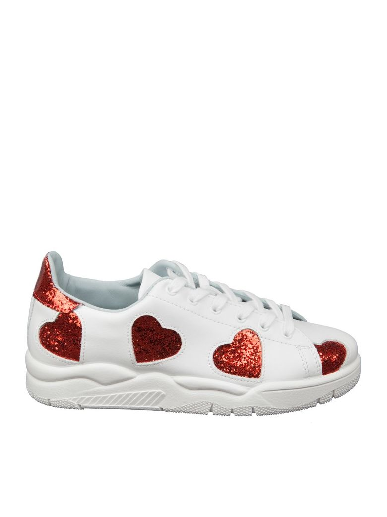 Online Sale Clearance Footlocker Finishline Chiara Ferragni Sneakers In Leather With Hearts In Red Glitter Buy Cheap 100% Guaranteed Buy Cheap Best Seller 100% Original Sale Online 6643Il