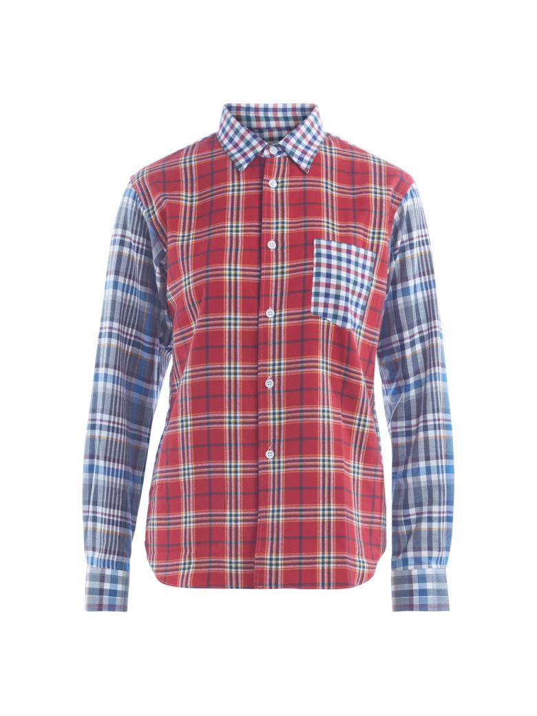 Comme Des Garçons Shirt COMME DES GARÇONS SHIRT BOYS MULTICOLOR CHECKED SHIRT