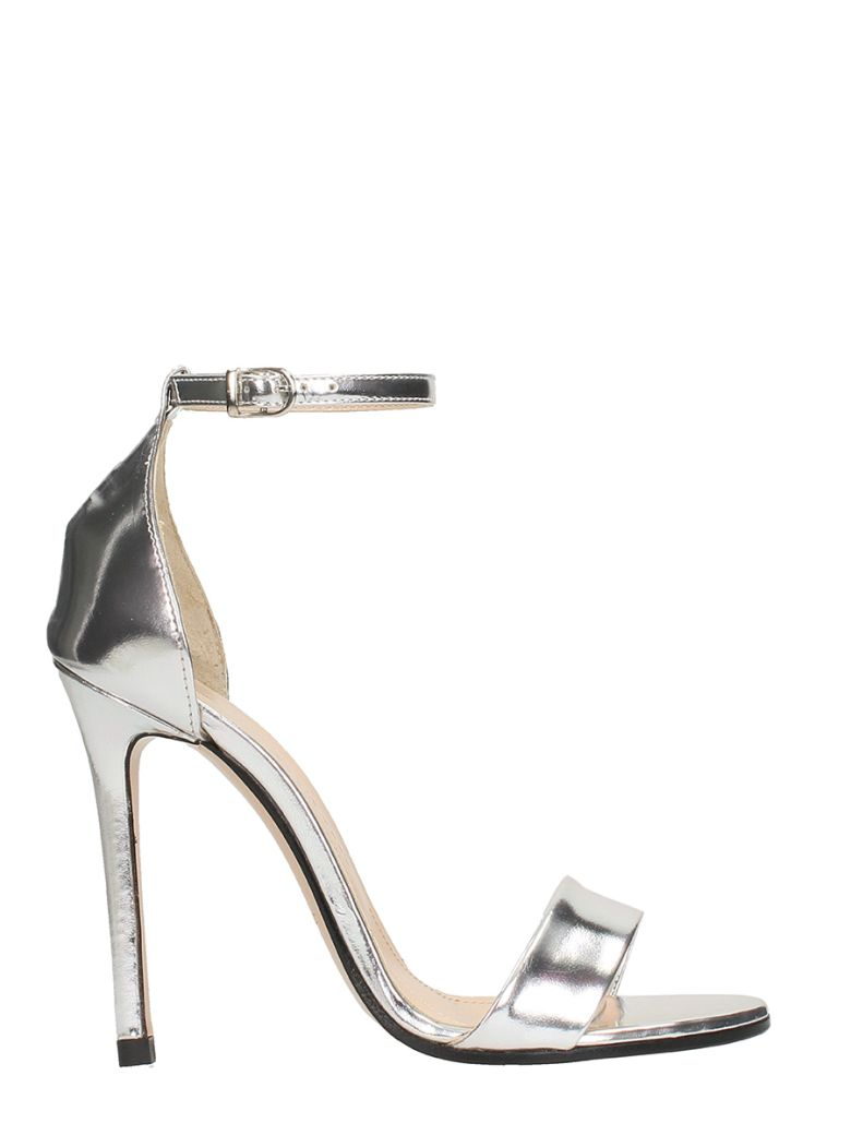 METAL SILVER LEATHER SANDALS