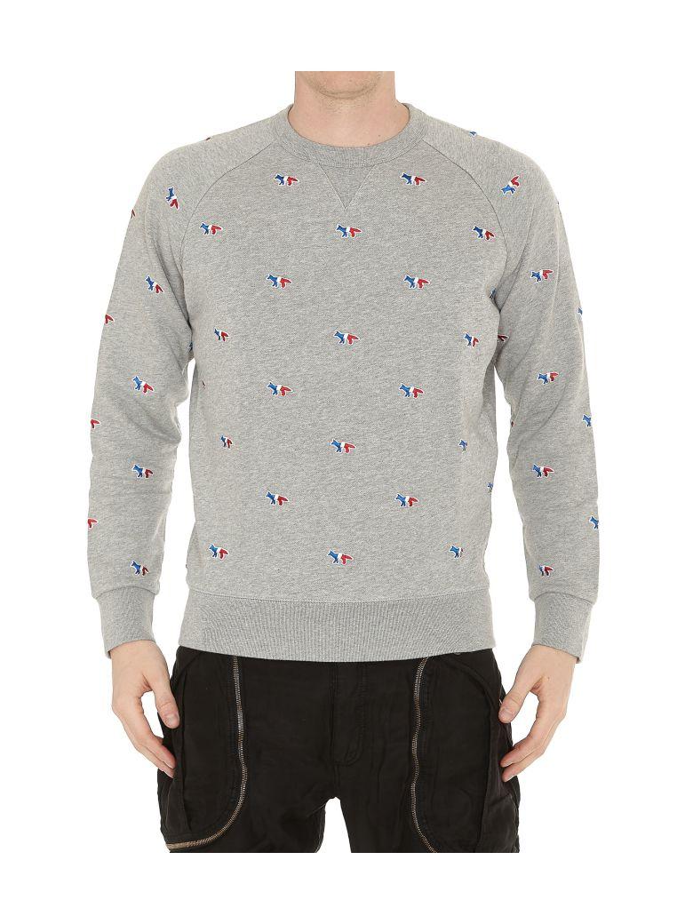 f6d0dfa31 KitsunÉ All Over Logo Sweatshirt In Grey Melange