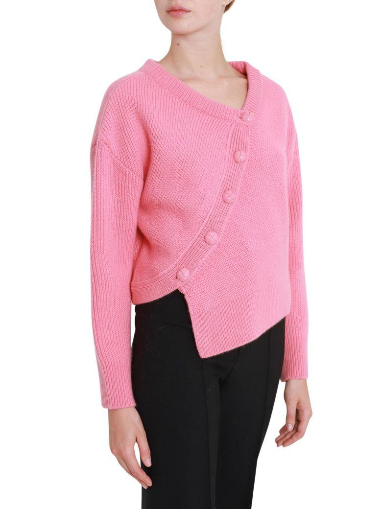Cédric Charlier Asymmetric Button Front Jumper - Pink, Rosa