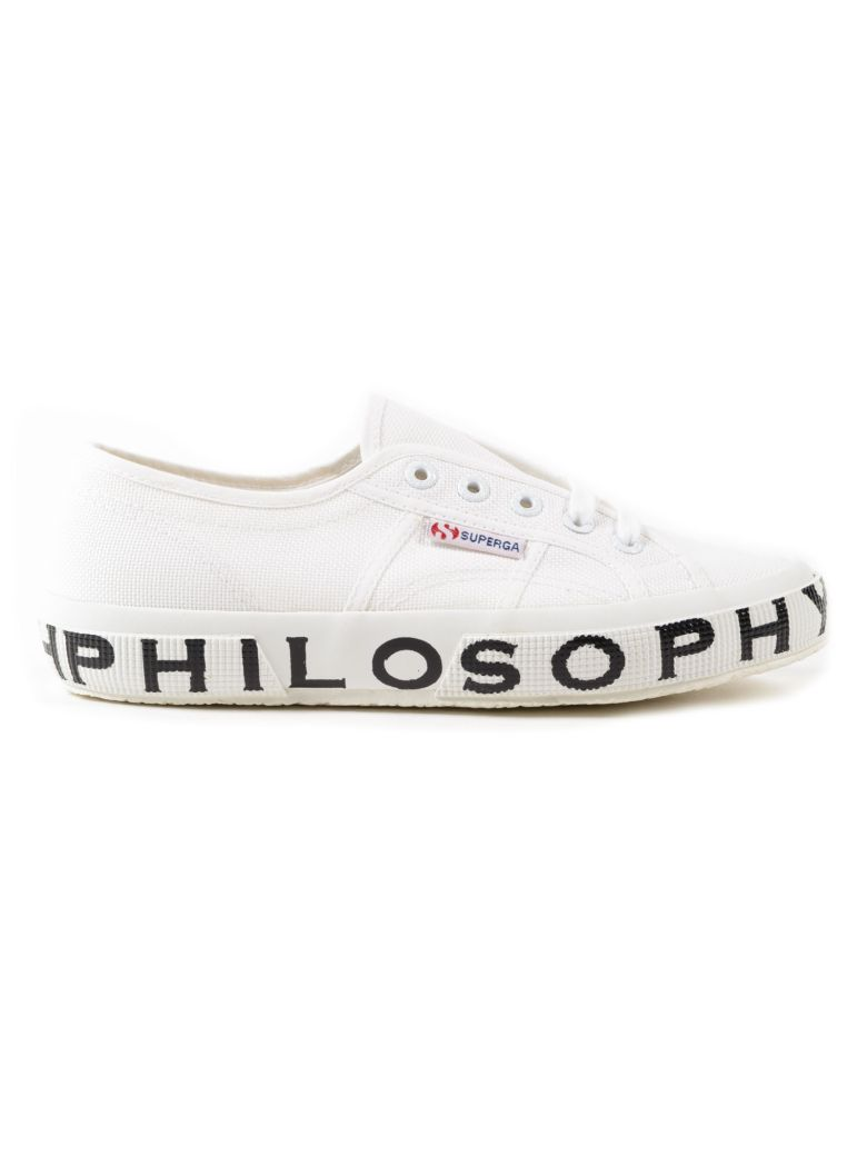 PHILOSOPHY DI LORENZO SERAFINI White Canvas Sneaker Superga X Philosophy