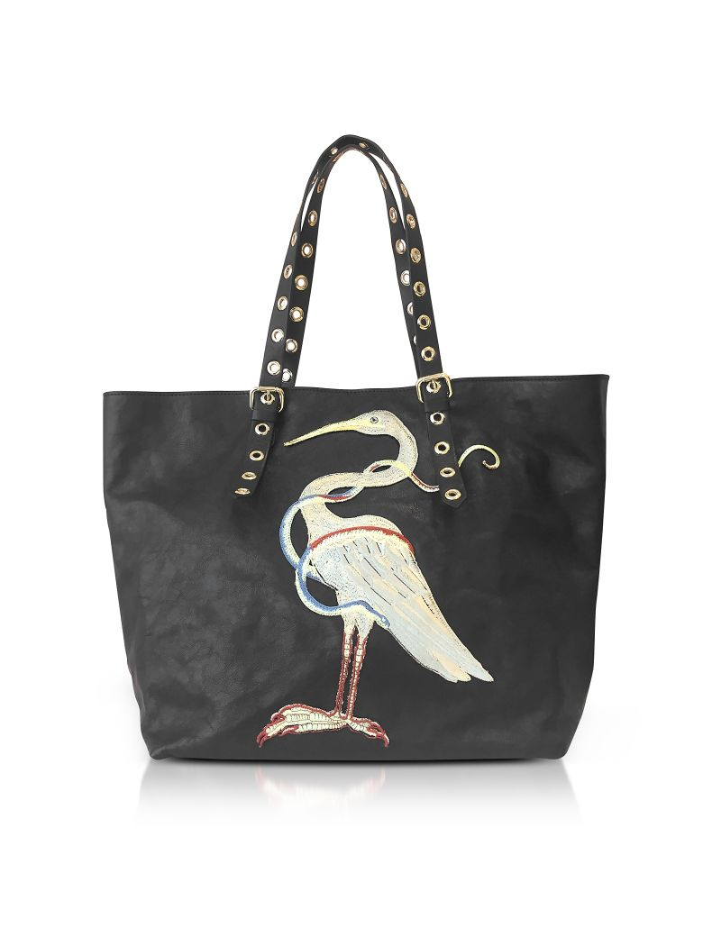 embroidered oversized tote