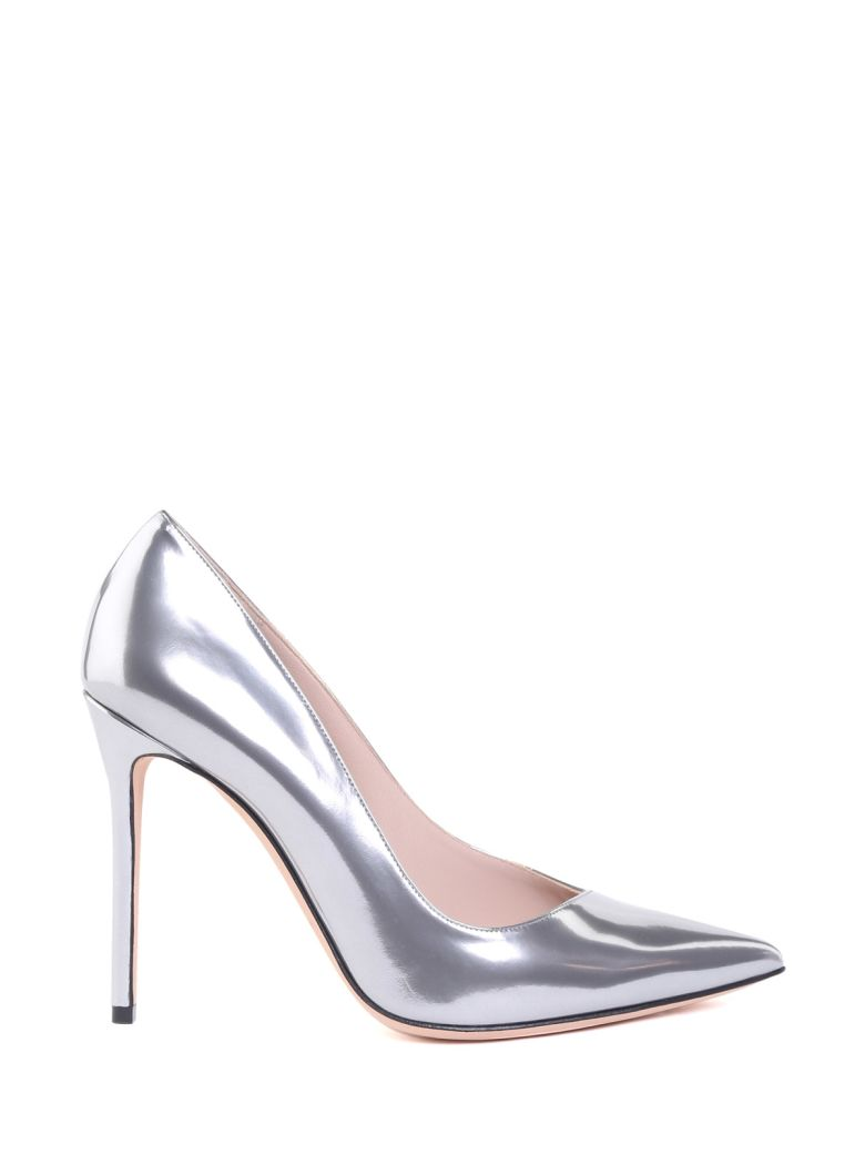 MIRRORED-LEATHER PUMPS