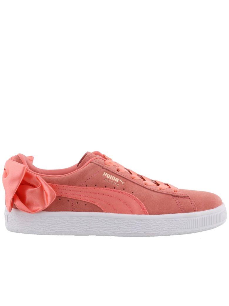 BOW SUEDE SNEAKERS