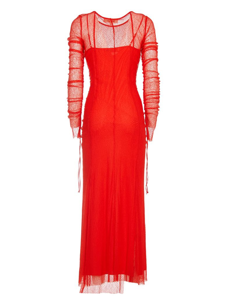 Fringed mesh dress - Red Diane Von F Factory Outlet Cheap Online pDvRbM