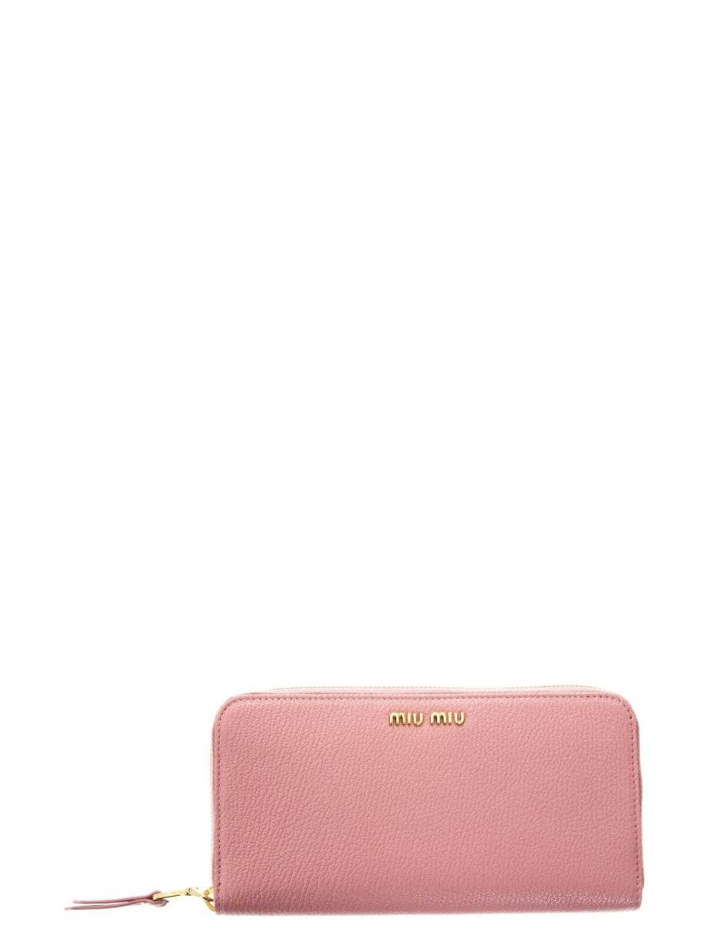 f3f262e57695 MIU MIU MADRAS PINK LEATHER WALLET