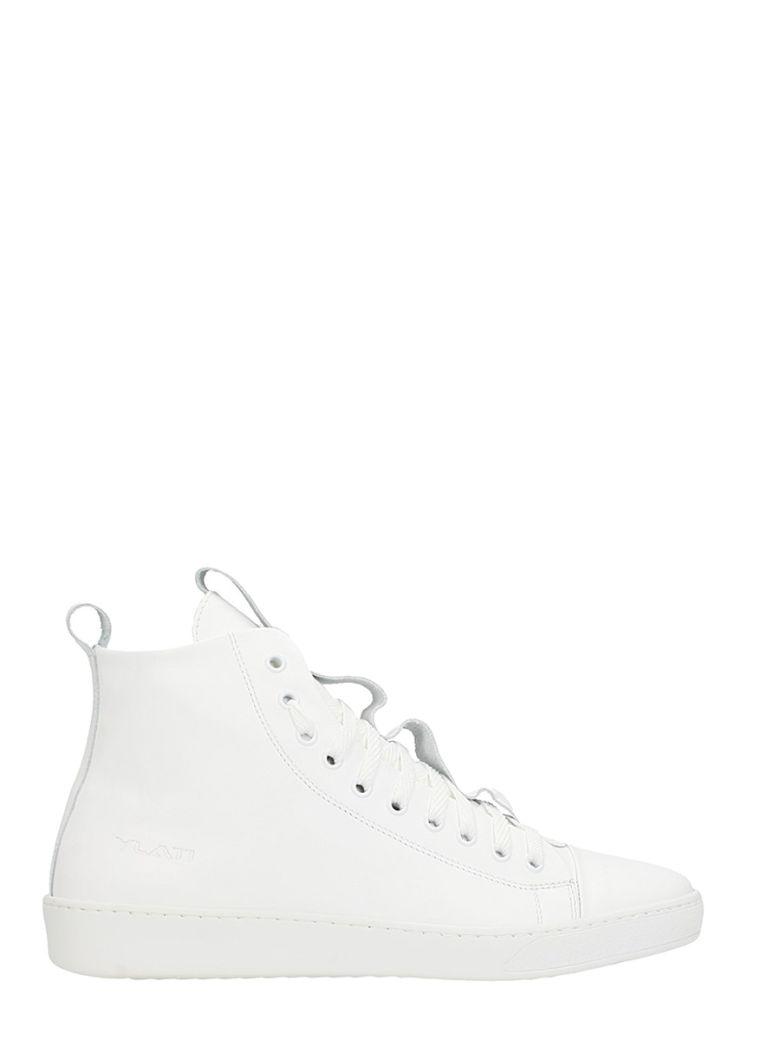 YLATI FOOTWEAR SORRENTO WHITE LEATHER SNEAKERS
