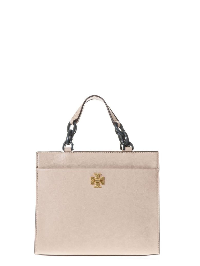 SAND KIRA SMALL TOTE BAG IN LEATHER
