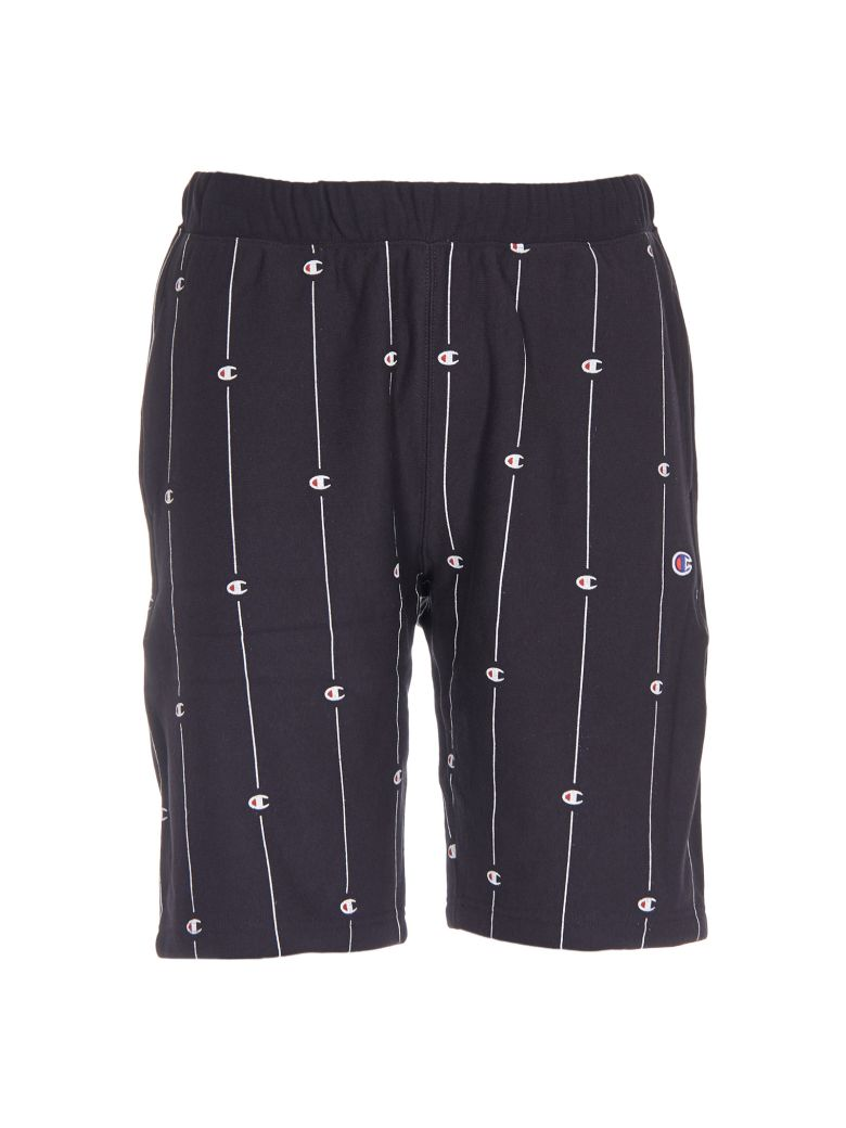 ed8fcf4cd03 Champion Reverse Weave All-Over Print Sweat Shorts In Black ...