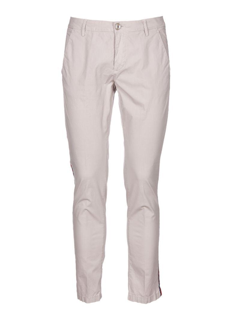 AGLINI Side Striped Trousers in Beige