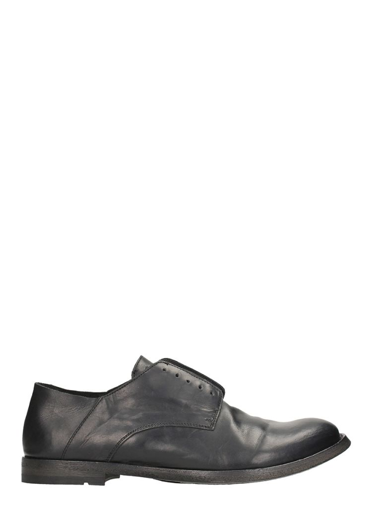 DAMIR DOMA X OFFICINE CREATIVE BLACK LEATHER LACE UP