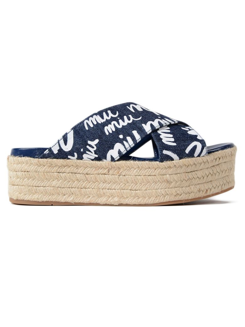 DENIM LOGO SANDALS
