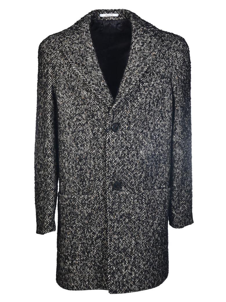 AGLINI Buttoned Coat in Grey