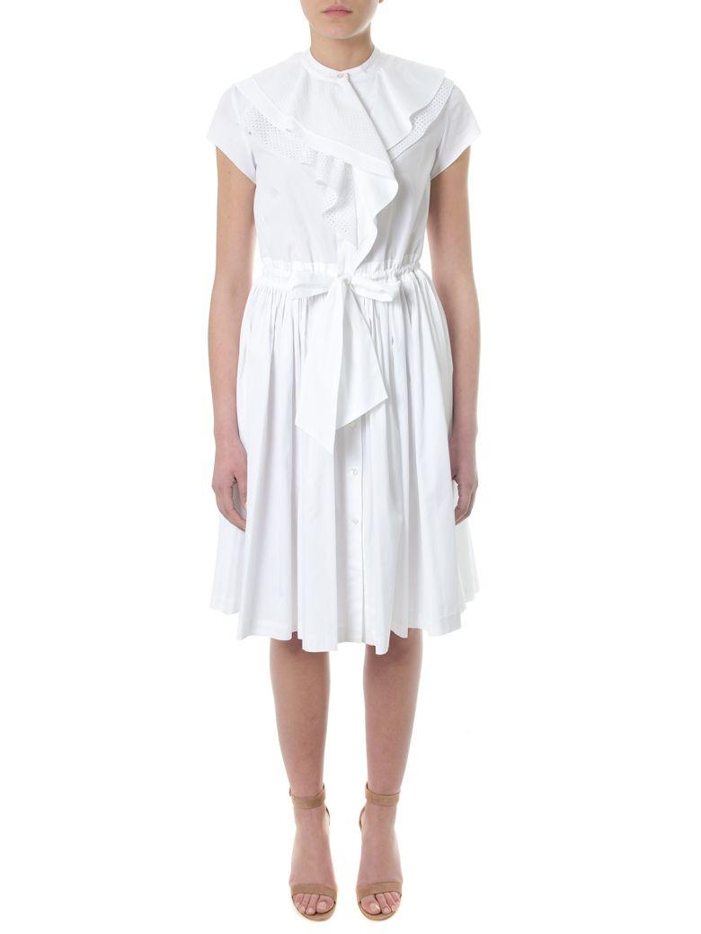 LANVIN Draped White Cotton Dress