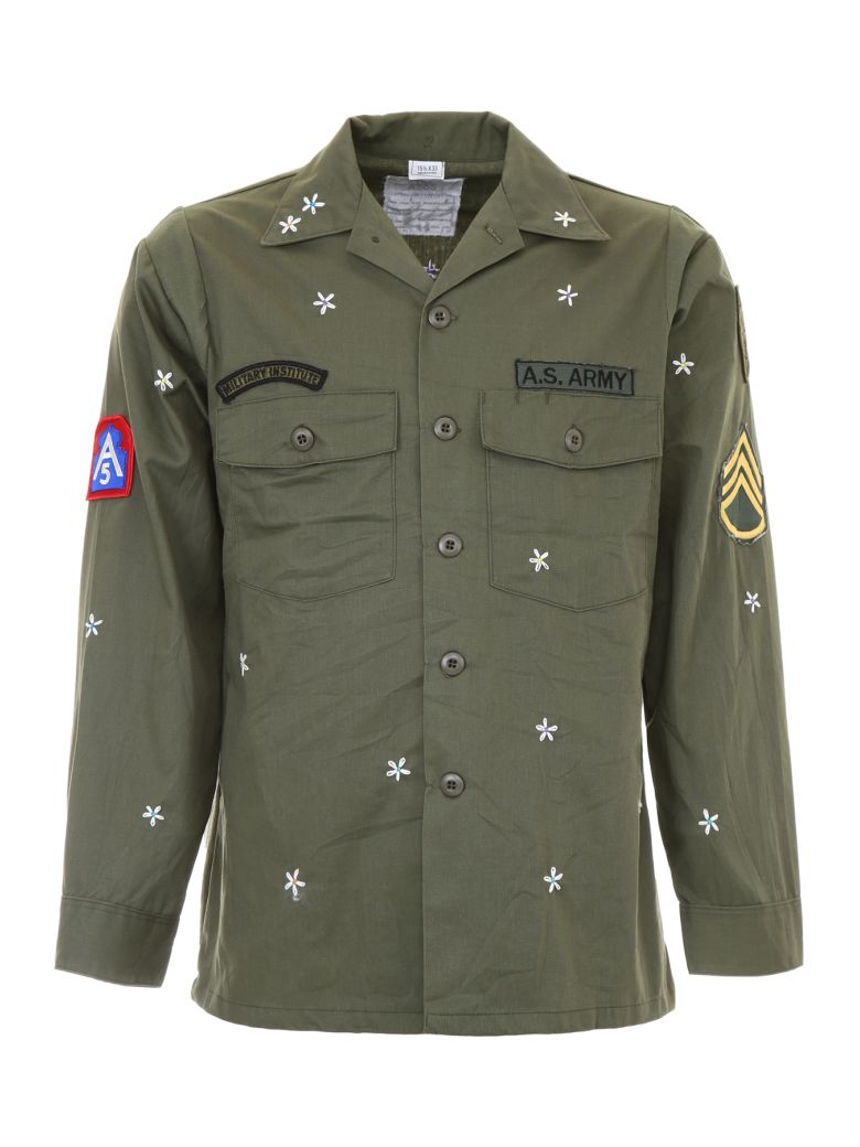 AS65 Army Jacket With Embroidery in Green
