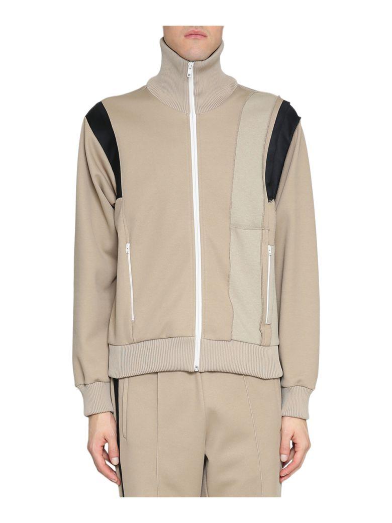 Satin-Panelled Jersey Track Jacket