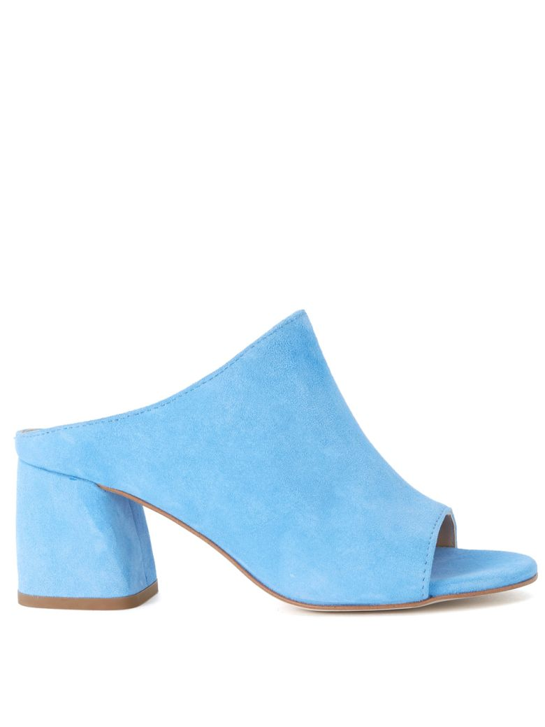 SELENE LIGHT BLUE SUEDE SABOT