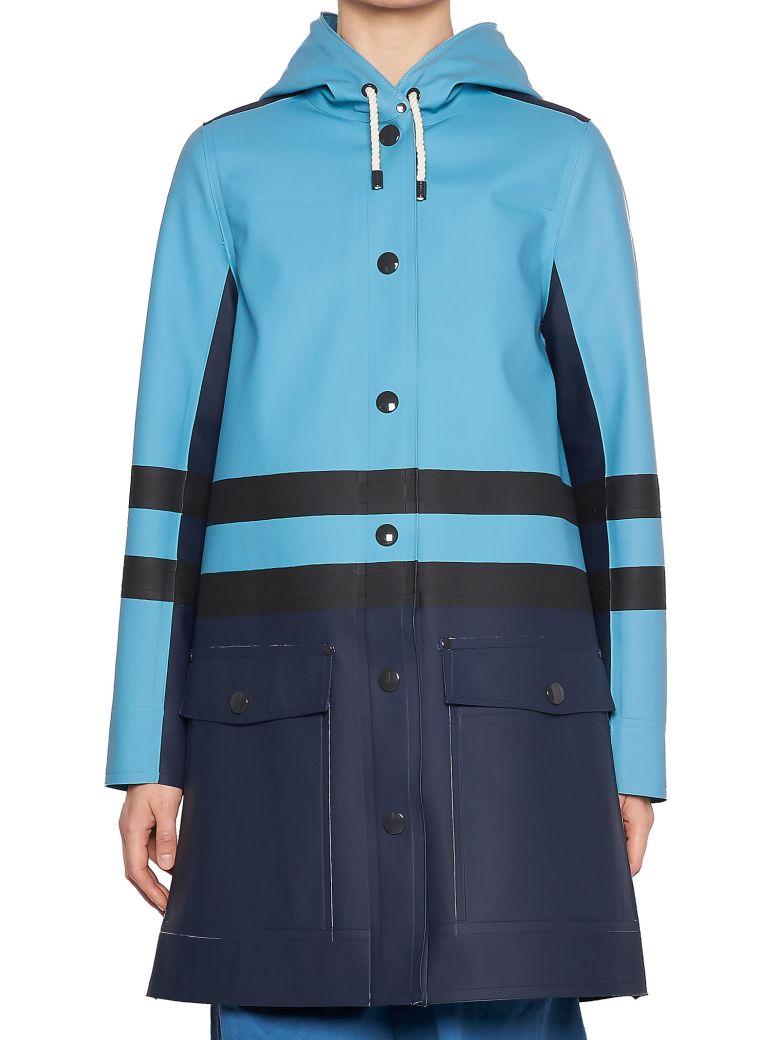 Hooded Water-Repellent Coat, Multicolor