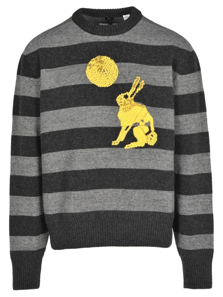 OAMC Oamc Embroidered Rabbit Detail Sweater - Grey