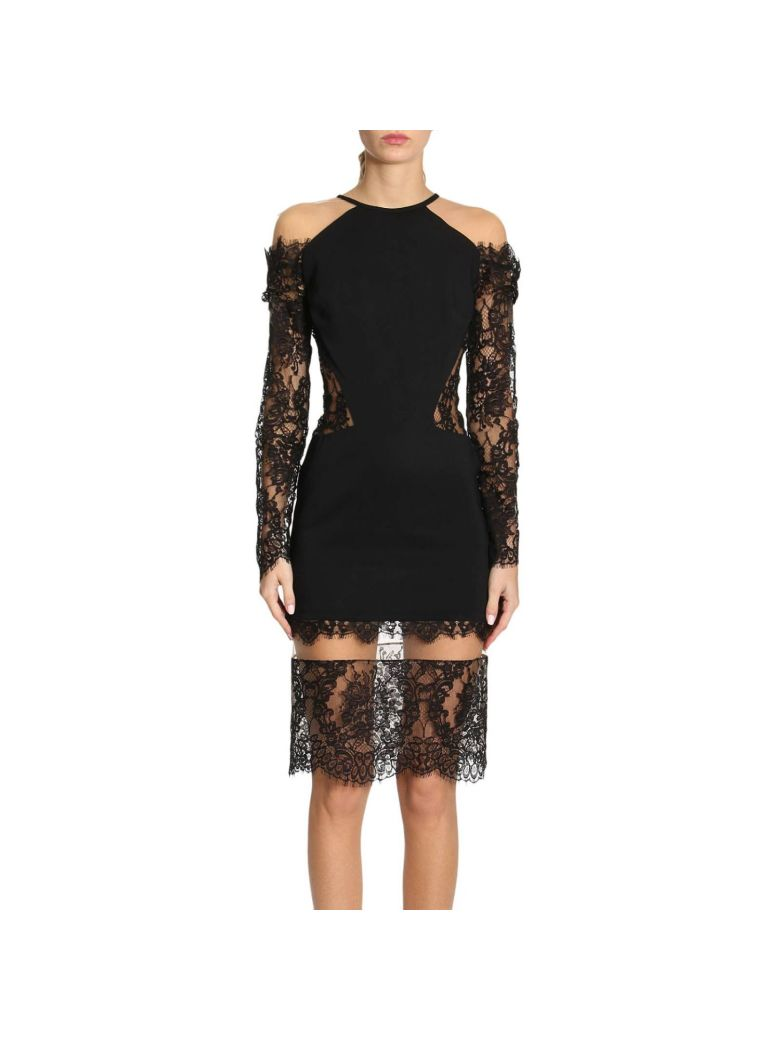 LACED LACK DRESS