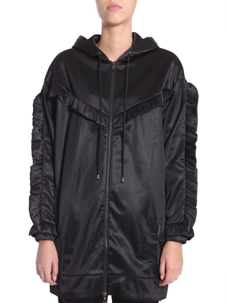 FORTE COUTURE Ruffled Sweatshirt Dress in Black