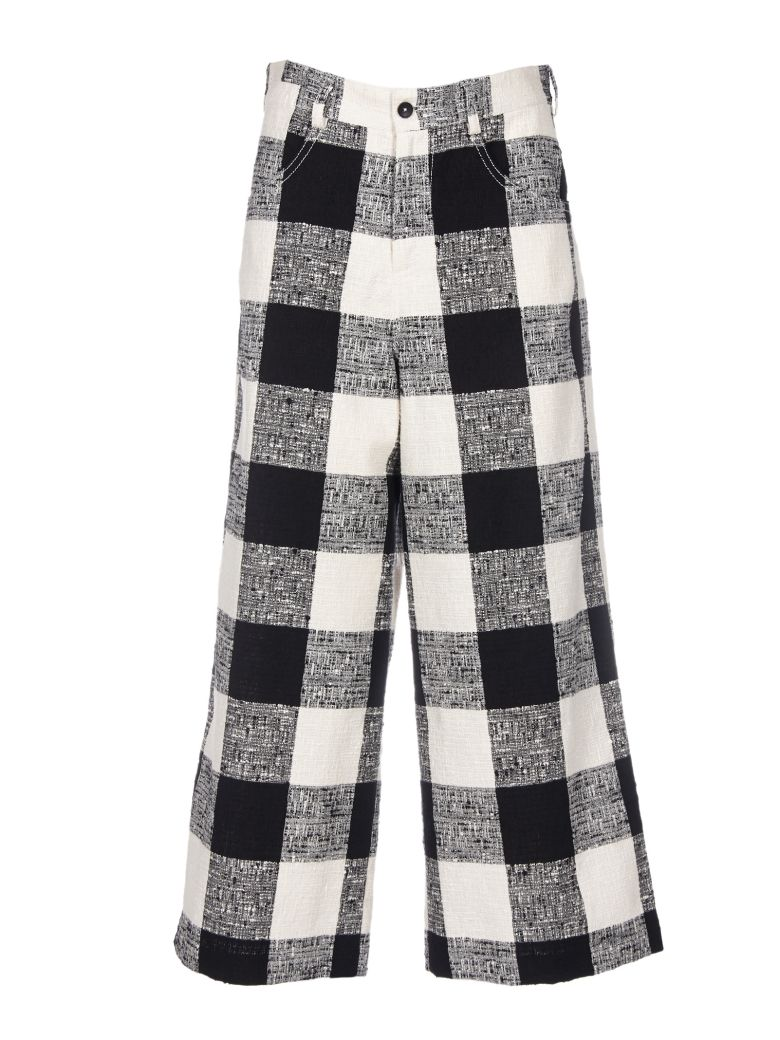 WOVEN CHECKED TROUSERS