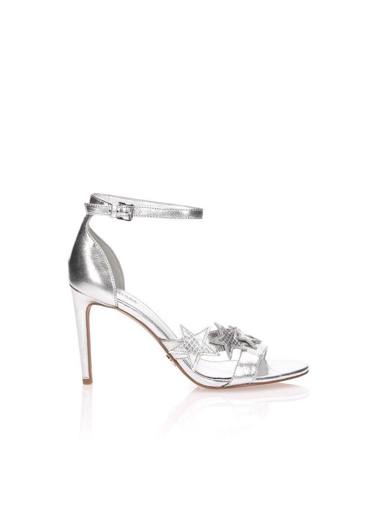 1545bddc758 Michael Kors Lexie Sandal In Silver