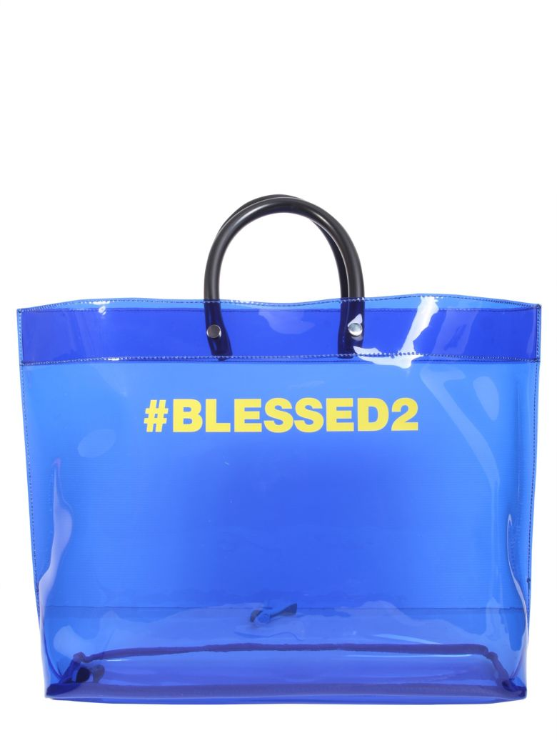 Blessed2 shopper tote - Blue Dsquared2 r9s1v3SP