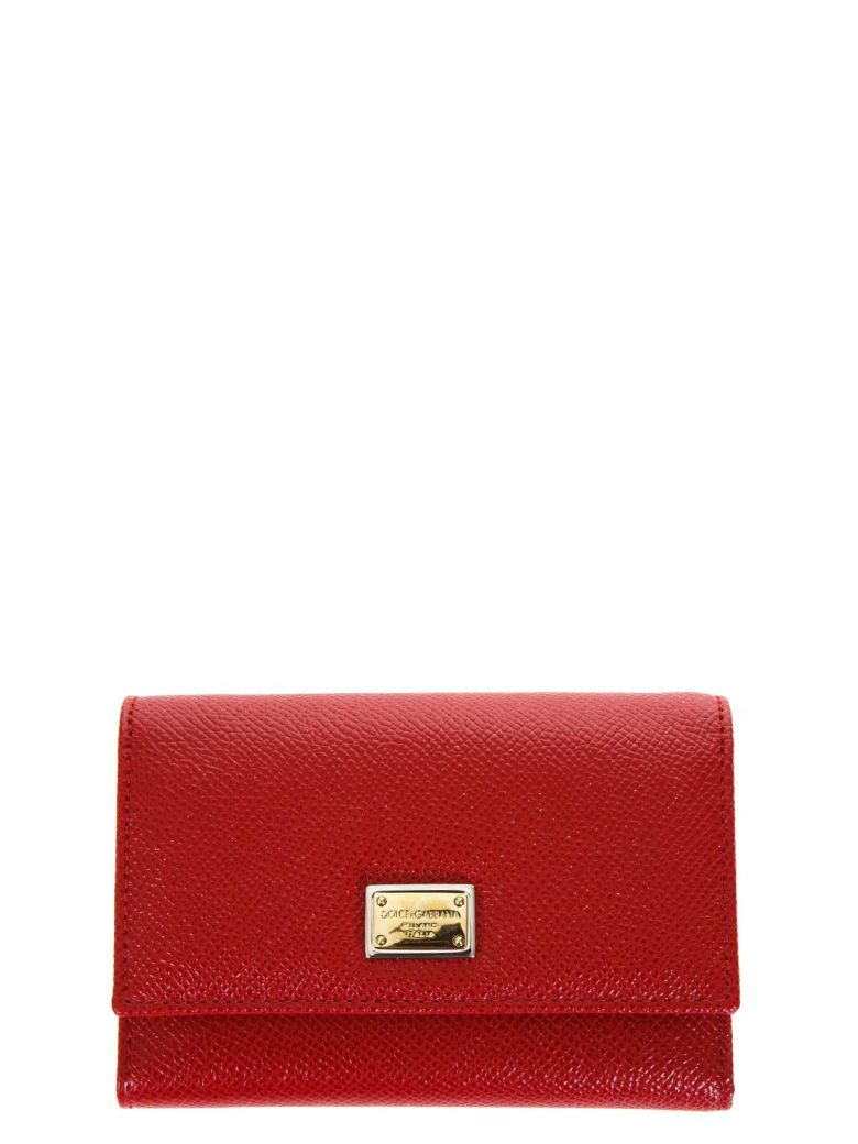 Dauphine Red Leather Wallet