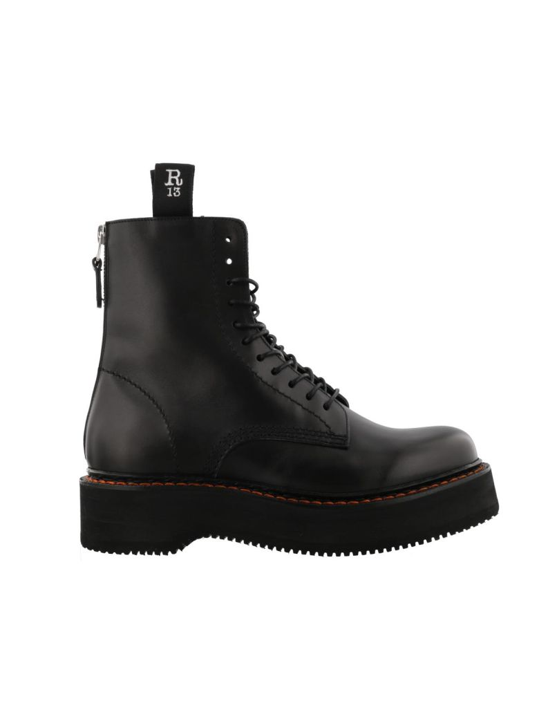 ac1db8dd98755b R13 Black Single Stack 40 Leather Boots