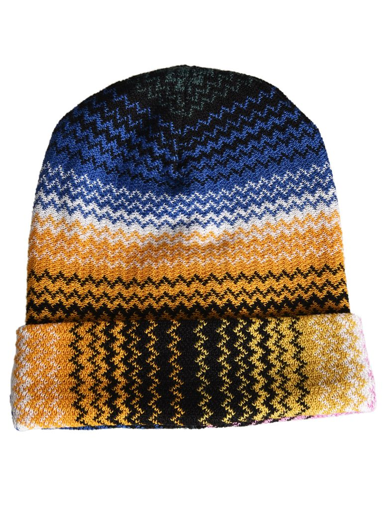 Missoni Zigzag Knitted Beanie In Multicolor  13d35a7e3f41