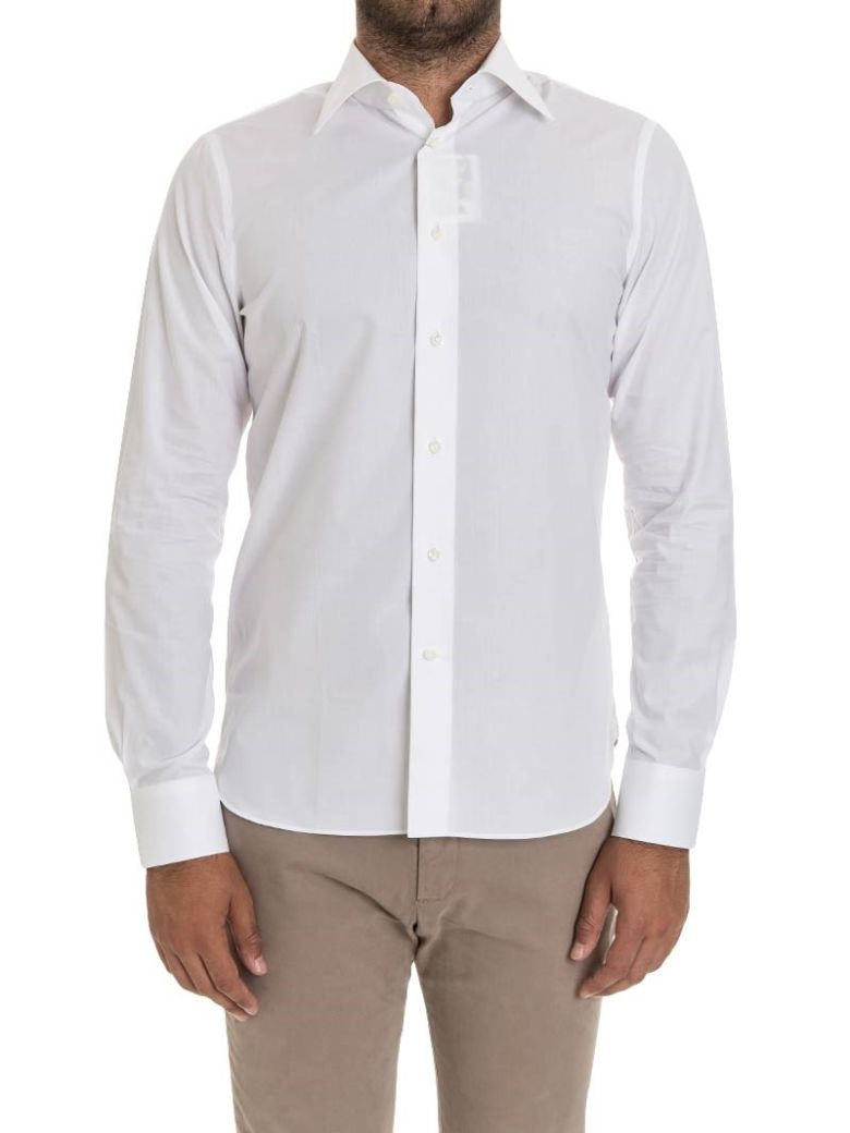 G. INGLESE G Inglese Cotton Shirt Double Cuff in White