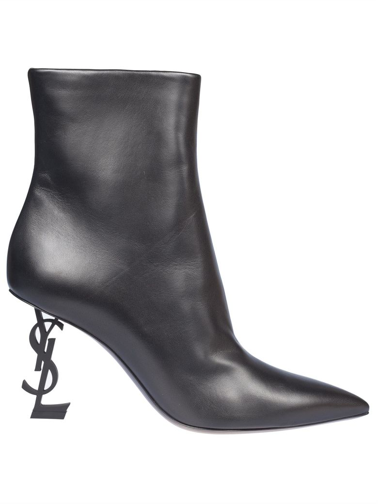 YSL HEEL ANKLE BOOTS