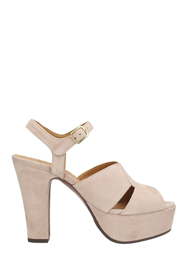 Chie Mihara XIRO POWDER SOFT SUEDE SANDALS