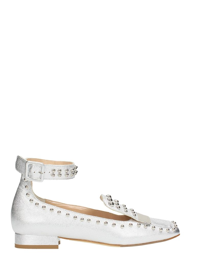 SILVER STUDS LOAFERS