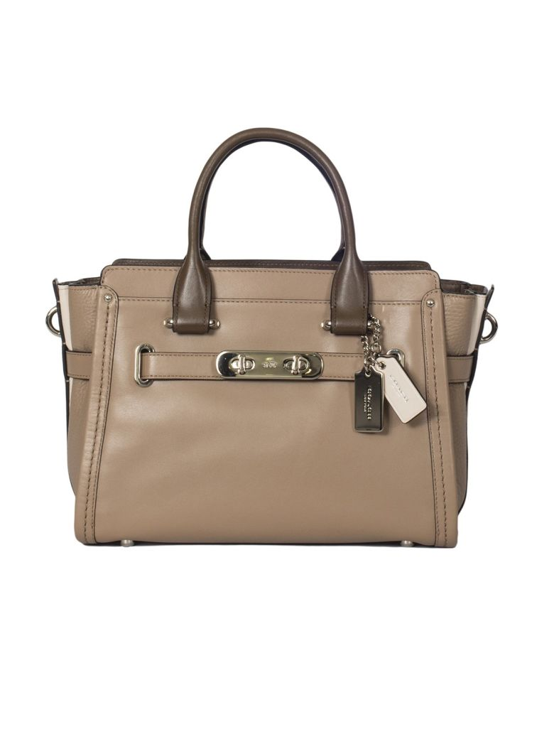 multicolour leather handbag