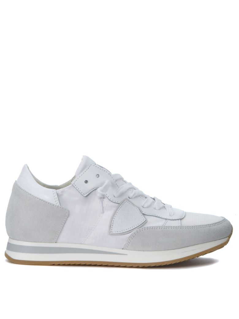 TROPEZ WHITE AND GREY SNEAKERS