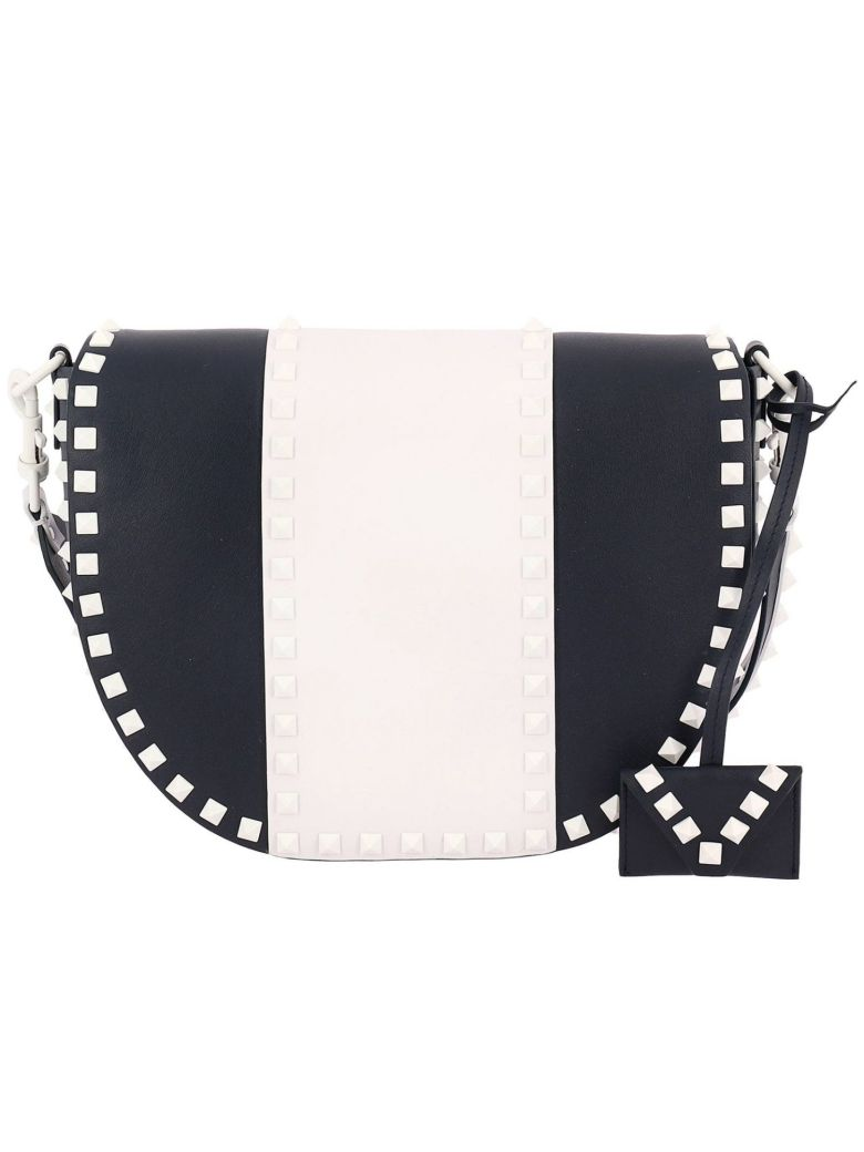 CROSSBODY BAGS FREE ROCKSTUD SPIKE BAG WITH BICOLOR EFFECT AND REMOVABLE SHOULDER STRAP