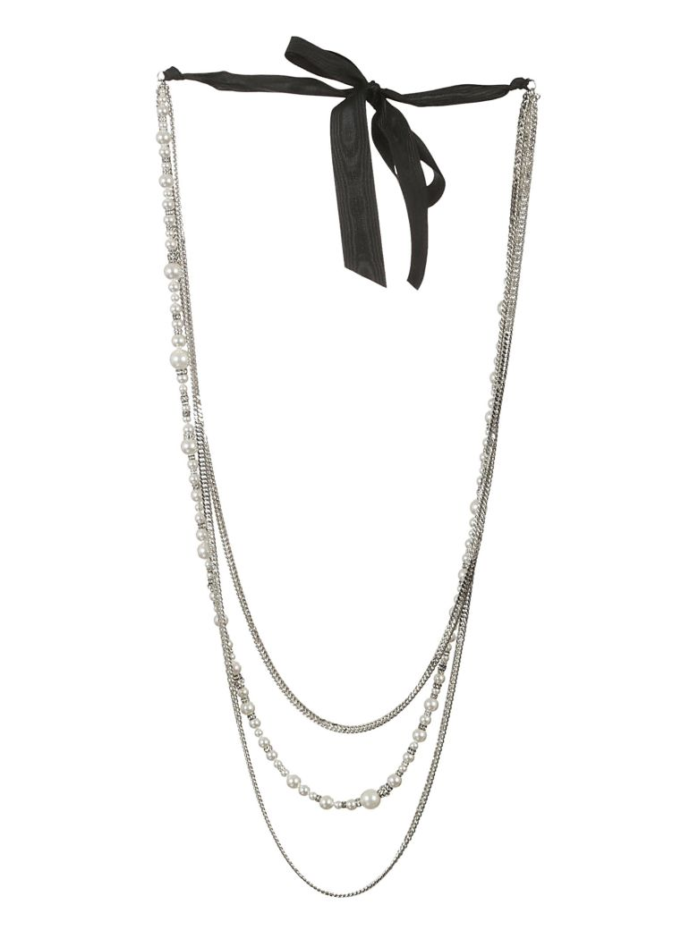 Lanvin pearl-embellished chain necklace - Metallic pMmjT