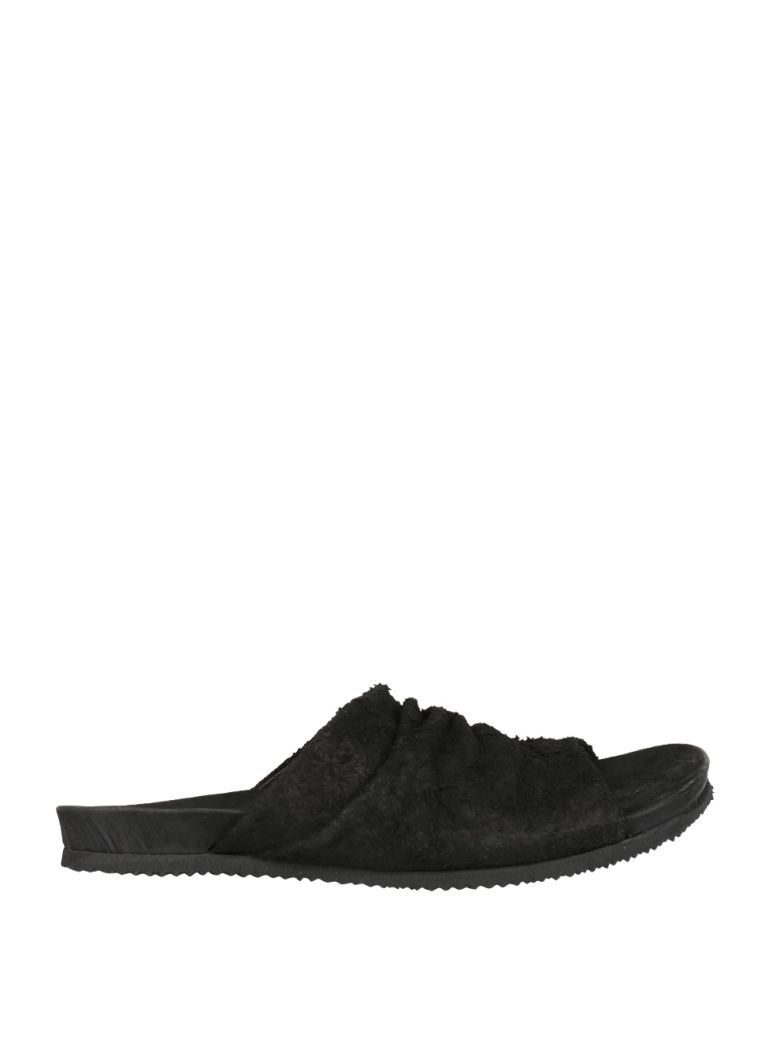 GUSTAVO LONG HAIRED SUEDE SANDAL