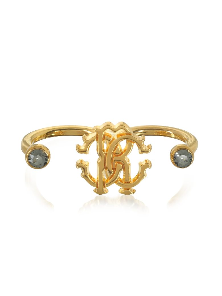 Goldtone Metal Two Fingers Ring