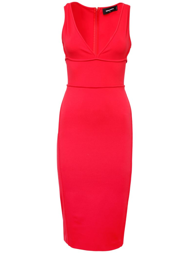 Dsquared2 Jersey Sheath Dress - ROSSO|Rosso