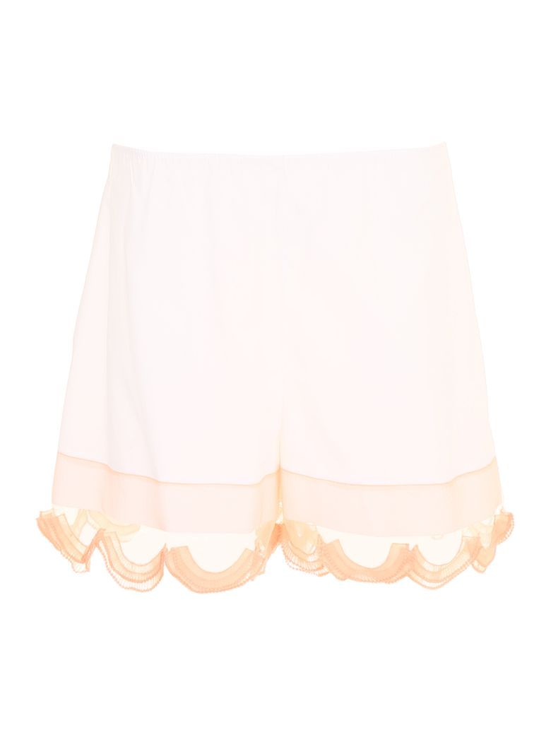 Compact Poplin And Cigaline Shorts in Bianco+Albicocca