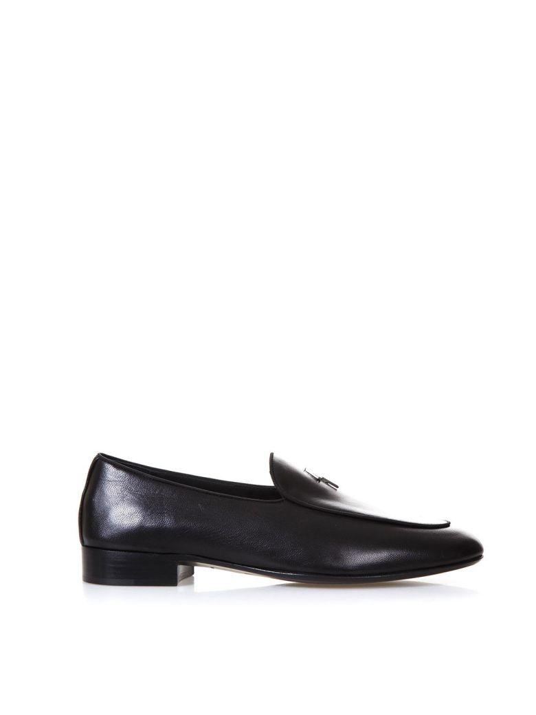 Giuseppe ZanottiBlack calf and nappa leather loafer KENT