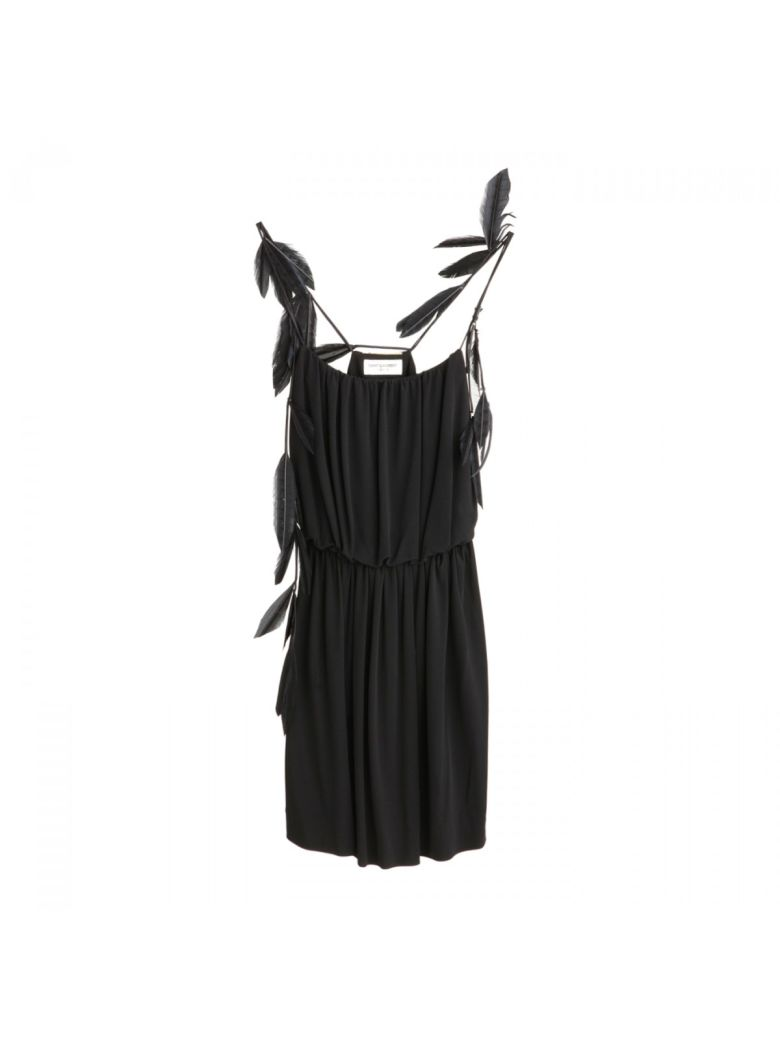 FEATHER TRIP STRAPPY DRESS