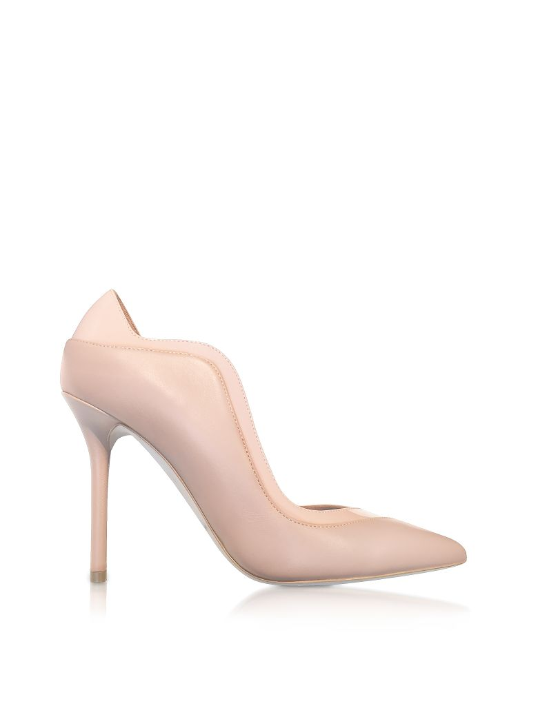 PENELOPE NUDE AND BLUSH NAPPA LEATHER PUMPS