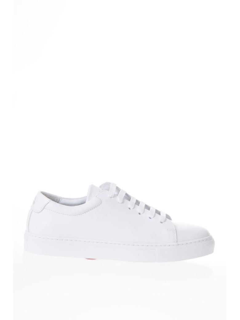 NATIONAL STANDARD EDITION 3 FUSALP WHITE LEATHER SNEAKERS