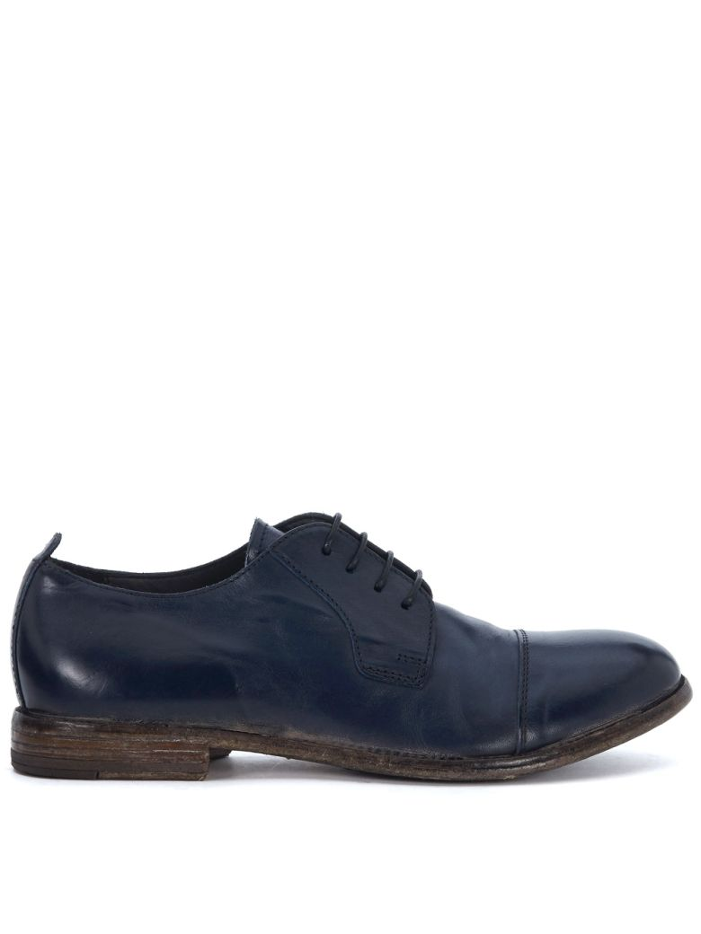 MOMA BLUE LEATHER LACE UP SHOES